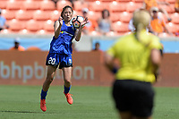Houston, TX - Saturday May 27, 2017: Rumi Utsugi gains control of a loose ball during a regular season National Women's Soccer League (NWSL) match between the Houston Dash and the Seattle Reign FC at BBVA Compass Stadium.