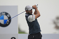 Pablo Larrazabal (ESP) tees off the 2nd tee during Thursday's Round 1 of the 2014 BMW Masters held at Lake Malaren, Shanghai, China 30th October 2014.<br /> Picture: Eoin Clarke www.golffile.ie