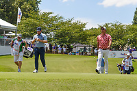 Tyrrell Hatton (ENG) and Mikumu Horikawa (JPN) make their way down 13 during round 2 of the WGC FedEx St. Jude Invitational, TPC Southwind, Memphis, Tennessee, USA. 7/26/2019.<br /> Picture Ken Murray / Golffile.ie<br /> <br /> All photo usage must carry mandatory copyright credit (© Golffile | Ken Murray)