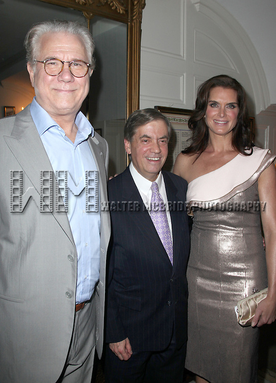 John Larroquette, Michael Presser & Brooke Shields.attending the Inside Broadway  2011 Broadway Beacon Awards at The Players Club in New York City.