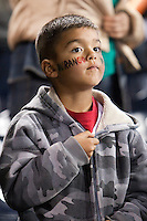 16 March 2009: A young fan of Team Mexico stands during the national anthem prior to the 2009 World Baseball Classic Pool 1 game 3 at Petco Park in San Diego, California, USA. Cuba wins 7-4 over Mexico.