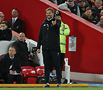 Jurgen Klopp manager of Liverpool looks on during the Champions League Quarter Final 1st Leg, match at Anfield Stadium, Liverpool. Picture date: 4th April 2018. Picture credit should read: Simon Bellis/Sportimage