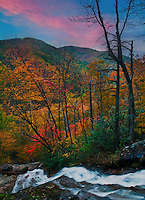 Crabtree Falls at sunset, George Washington National Forest, Virginia