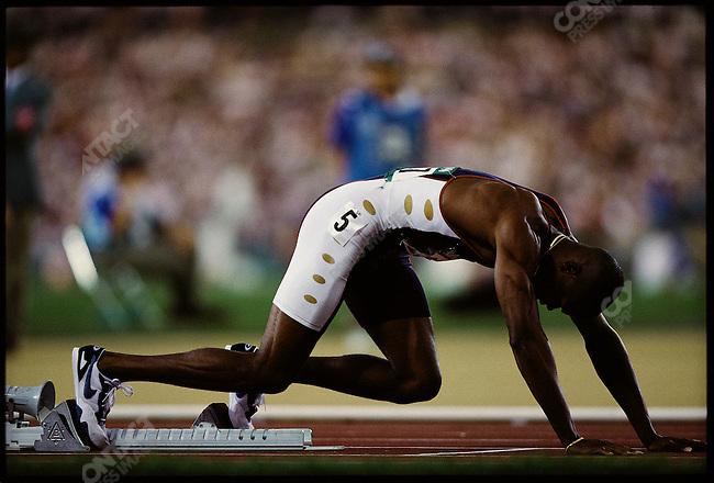 400m hurdles, men. American athlete, Summer Olympics, Atlanta, Georgia, USA July, 1996.