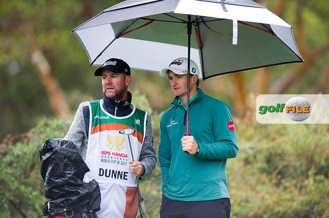Paul Dunne (IRL) during the second day of the World cup of Golf, The Metropolitan Golf Club, The Metropolitan Golf Club, Victoria, Australia. 23/11/2018<br /> Picture: Golffile   Anthony Powter<br /> <br /> <br /> All photo usage must carry mandatory copyright credit (© Golffile   Anthony Powter)