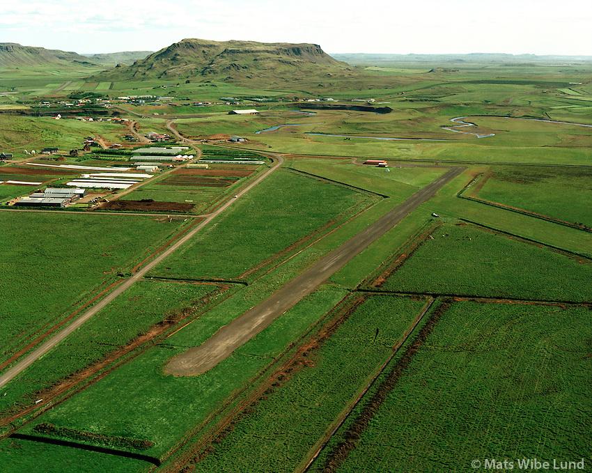 BIFL Flúðir séð til suðurs, Hrunamannahreppur /.BIFL Fludir airfield, Hrunamannahreppur