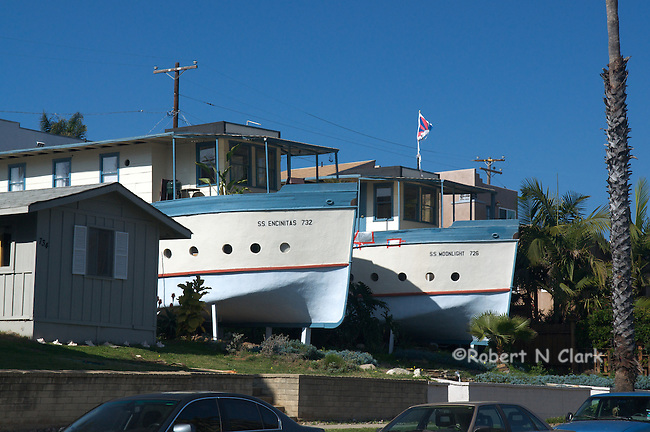 The famous Boathouses in Encinitas