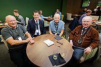 Former Swansea player Nigel Stevenson (2nd L) in the Legends Lounge prior to the Sky Bet Championship match between Swansea City and Bristol City at the Liberty Stadium, Swansea, Wales, UK. Saturday 25 August 2018