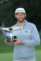 February 19, 2017: Dustin Johnson wins the 2017 Genesis Open played at Riviera Country Club in Pacific Palisades, CA. Michael Zito/ESW/CSM