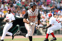 June 15th 2008:  Eric Eiland of the Lansing Lugnuts, Class-A affiliate of the Toronto Blue Jays, during a game at Dow Diamond in Midland, MI.  Photo by:  Mike Janes/Four Seam Images