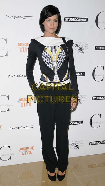 Leigh Lezark<br /> The &quot;Mademoiselle C&quot; VIP film screening, May Fair Hotel, Stratton St., London, England.<br /> September 15th, 2013<br /> full length black white top print trousers <br /> CAP/CAN<br /> &copy;Can Nguyen/Capital Pictures