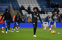 Leicester City's Hamza Choudhury during the pre-match warm-up <br /> <br /> Photographer Hannah Fountain/CameraSport<br /> <br /> The Premier League - Leicester City v Tottenham Hotspur - Saturday 8th December 2018 - King Power Stadium - Leicester<br /> <br /> World Copyright © 2018 CameraSport. All rights reserved. 43 Linden Ave. Countesthorpe. Leicester. England. LE8 5PG - Tel: +44 (0) 116 277 4147 - admin@camerasport.com - www.camerasport.com