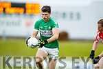 Padraig Óg Ó Sé West Kerry in action against Jamie O'Sullivan Legion in the Quarter Final of the Kerry Senior County Championship at Austin Stack Park on Sunday.