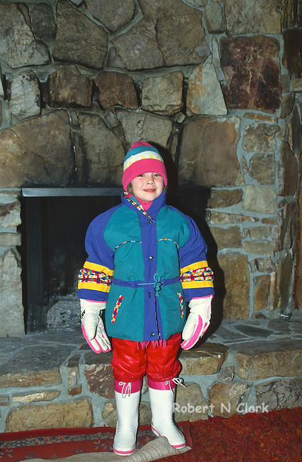 Girl in snow suit