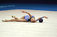 Sep 28, 2000; SYDNEY, AUSTRALIA:<br /> INGA TAVDISHVILI of Georgia performs with ball during rhythmic gymnastics qualifying at 2000 Summer Olympics.