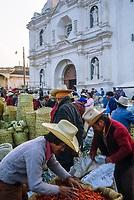 Guatemala, mercato di San Francisco El Alto.<br /> Guatemala, San Francisco El Alto market
