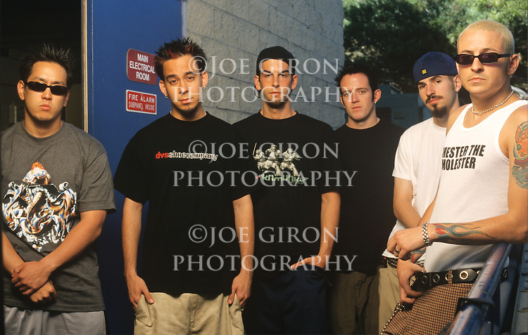 Various portrait sessions of the rock band, Linkin Park