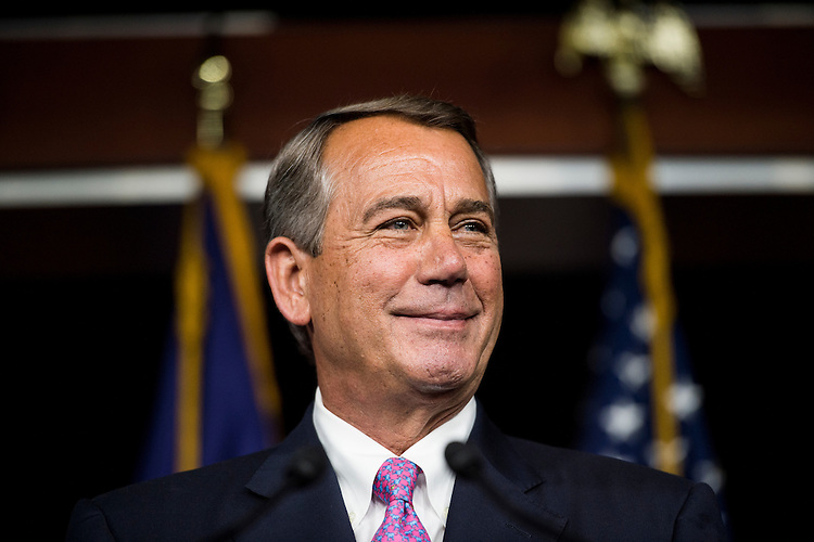 UNITED STATES - JULY 29: Speaker of the House John Boehner, R-Ohio, holds his weekly on camera media availability in the Capitol on Wednesday, July 29, 2015. (Photo By Bill Clark/CQ Roll Call)