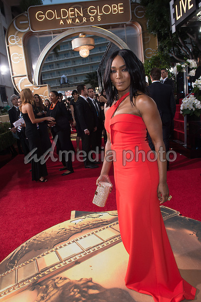 Angela Bassett attends the 73rd Annual Golden Globes Awards at the Beverly Hilton in Beverly Hills, CA on Sunday, January 10, 2016. Photo Credit: HFPA/AdMedia
