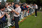 Ryder Cup..Paul McGinley and Darren Clarke sign autographs at the K Club..Photo: Eoin Clarke/ Newsfile.