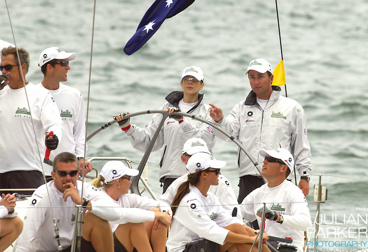 Crown Prince Frederik & Crown Princess Mary of Denmark take part in a sailing match on Sydney Harbour, during their 2-week visit to Australia..