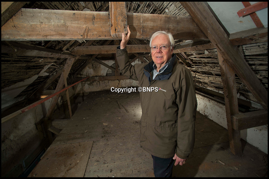 BNPS.co.uk (01202 558833)<br /> Pic: TomWren/BNPS<br /> <br /> Chairman for the Tolpuddle Old Chapel Trust Andrew McCarthy inside the Grade II listed Methodist chapel which was built by two of the Tolpuddle Martyrs.<br /> <br /> Campaigners trying to save a little derelict chapel where the Tolpuddle Martyrs met have just three months to raise £226,000 to safeguard its future.