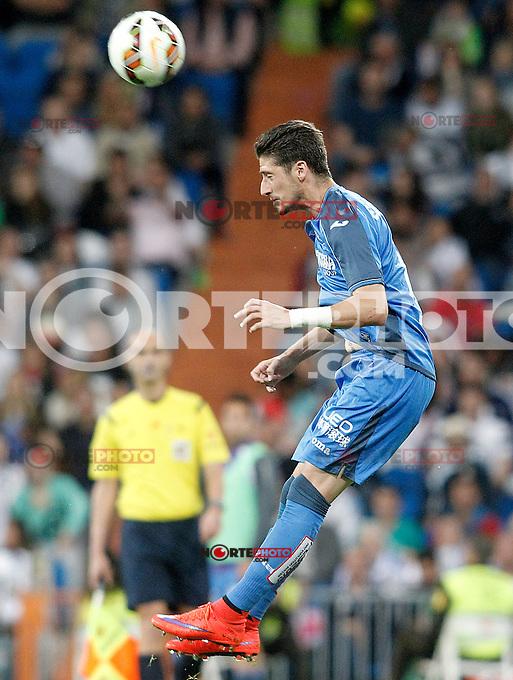 Getafe's Sergio Escudero during La Liga match. May 23,2015. (ALTERPHOTOS/Acero) /NortePhoto.com