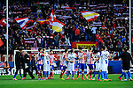 Spanish league football match Atletico de Madrid vs RCD Espanyol at the Vicente Calderon stadium in Madrid on March 15, 2014. <br />