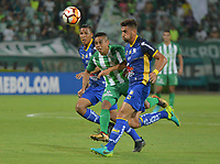 MEDELLÍN -COLOMBIA - 14-03-2018:Vladimir Hernández jugador del Atlético Nacional de Colomba en acción contra  el equipo Delfín Sporting Club de Ecuador.Atlético Nacional de Colombia  y Delfín Sporting Club de Ecuador durante partido por la Copa Conmebol Libertadores de América ,grupo B ,fecha 2 ,jugado en el estadio Atanasio Girardot de la ciudad de Medellín. / Vladimir Hernandez player of Atletico Nacional of Colombia in actions agaisnt of Delfín Sportig Club of Ecuador. Atletico Nacional of Colombia and Delfin Sporting Club of Ecuador during  match for the Conmebol Libertadores Cup 2018  ,date 2 , B Group , played at Atanasio Girardot stadium in Medellin city. Photo: VizzorImage/ León Monsalve /Cont