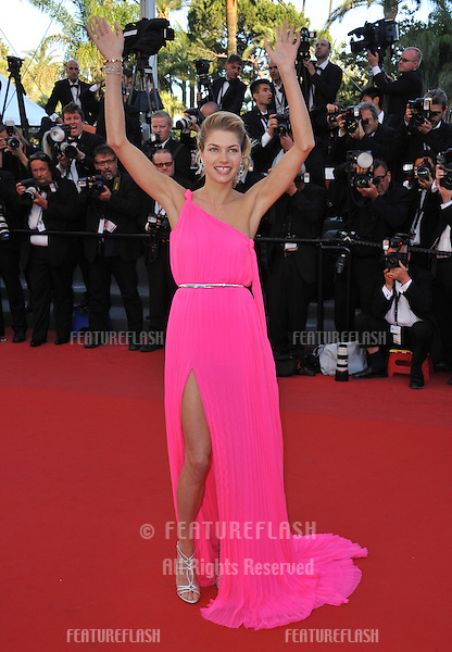 "Jessica Hart at gala premiere for ""Behind the Candelabra"" at the 66th Festival de Cannes..May 21, 2013  Cannes, France.Picture: Paul Smith / Featureflash"