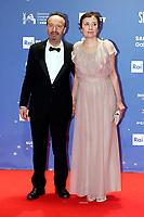 Roberto Benigni with his wife, the actress Nicoletta Braschi<br /> Rome March 27th 2019. 64th David Di Donatello awards ceremony.<br /> photo di Samantha Zucchi/Insidefoto