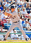 13 March 2007: Detroit Tigers infielder Brent Dlugach in the action against the Los Angeles Dodgers at Holman Stadium in Vero Beach, Florida.<br /> <br /> Mandatory Photo Credit: Ed Wolfstein Photo