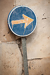 Arrow pointing right, Arta, Mallorca