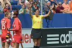 The Hague, Netherlands, June 02: Umpire calls for video referral during the field hockey group match (Group A) between Korea and New Zealand´s Black Sticks on June 2, 2014 during the World Cup 2014 at GreenFields Stadium in The Hague, Netherlands. Final score 1:0 (1:0) (Photo by Dirk Markgraf / www.265-images.com) *** Local caption ***
