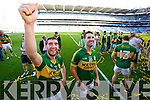 Killian Young and Bryan Sheehan. Kerry players celebrate their victory over Donegal in the All Ireland Senior Football Final in Croke Park Dublin on Sunday 21st September 2014.