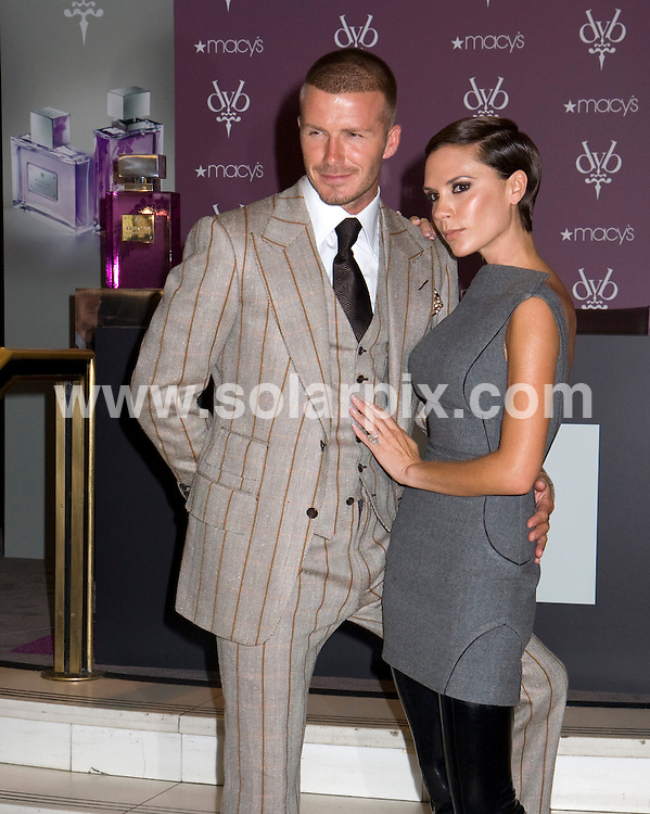 "**ALL ROUND PICTURES FROM SOLARPIX.COM**.**SYNDICATION RIGHTS FOR UK, SPAIN, PORTUGAL, AUSTRALIA, S.AFRICA & DUBAI (U.A.E) ONLY**.David and Victoria Beckham launch ""Beckham Signature"" Fragrance Collection at Macy's in New York.JOB REF:     PHZ  / Mayer  DATE: 26.09.08.**MUST CREDIT SOLARPIX.COM OR DOUBLE FEE WILL BE CHARGED* *UNDER NO CIRCUMSTANCES IS THIS IMAGE TO BE REPRODUCED FOR ANY ONLINE EDITION WITHOUT PRIOR PERMISSION*"