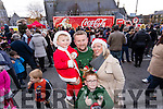 Tomás, Eoin and Sean Gibbons with Bernadette Cronin, Ballyduff, pictured at the Coca Cola Truck in Listowel on Sunday last.
