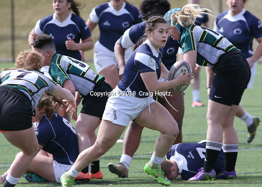 Penn State women's rugby against Allegheny All Stars women's rugby on March 31, 2018.  Photo/© 2018 Craig Houtz