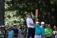 Gainesville, VA - August 2, 2015:    Jimmy Walker after his tee shot on hole 8 at the Robert Trent Jones Golf Club in Gainesville, VA. August 2, 2015.  (Photo by Elliott Brown/Media Images International)