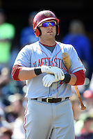 Hagerstown Suns catcher Spencer Kieboom (20) at bat during a game against the Lexington Legends on May 19, 2014 at Whitaker Bank Ballpark in Lexington, Kentucky.  Lexington defeated Hagerstown 10-8.  (Mike Janes/Four Seam Images)