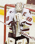 Molly Schaus (BC - 30) - The Boston College Eagles defeated the visiting Northeastern University Huskies 2-1 on Sunday, January 30, 2011, at Conte Forum in Chestnut Hill, Massachusetts.
