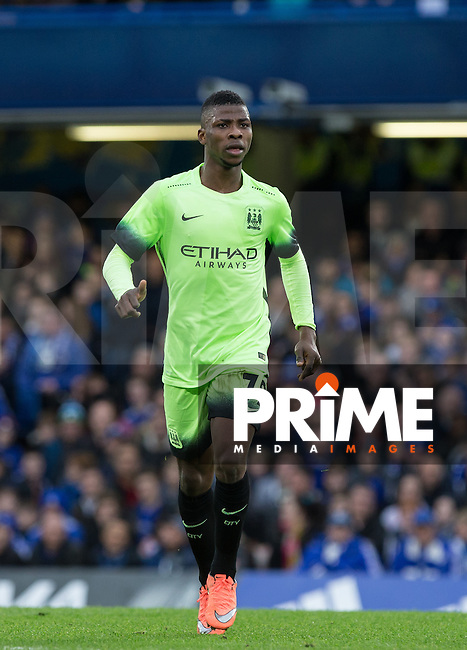 Kelechi Iheanacho of Man City during the FA Cup 5th round match between Chelsea and Manchester City at Stamford Bridge, London, England on 21 February 2016. Photo by Andy Rowland.
