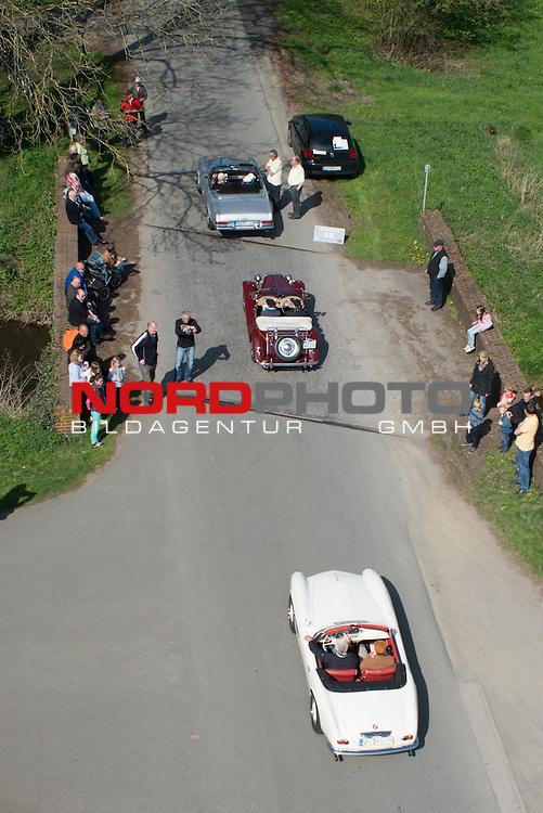 05.05.2013, City, Vechta, GER, AC Vechta Oldtimer Rallye 2013, im Bild<br /> Zwischenstation M&auml;useturm Harme / Landkreis Vechta <br /> Foto &copy; KFOTO / nph / Kokenge