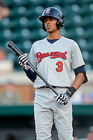 Brevard County Manatees shortstop Yadiel Rivera #3 during a game against the Lakeland Flying Tigers on April 10, 2013 at Joker Marchant Stadium in Lakeland, Florida.  Brevard County defeated Lakeland 7-6.  (Mike Janes/Four Seam Images)