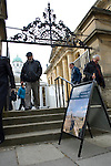 The Blackwell's Festival Marquee, Sheldonian Theare and Clarendon Building (R) during the FT Weekend Oxford Literary Festival, Oxford, UK. Wednesday 26 March 2014.<br /> <br /> PHOTO COPYRIGHT Graham Harrison<br /> graham@grahamharrison.com<br /> <br /> Moral rights asserted.