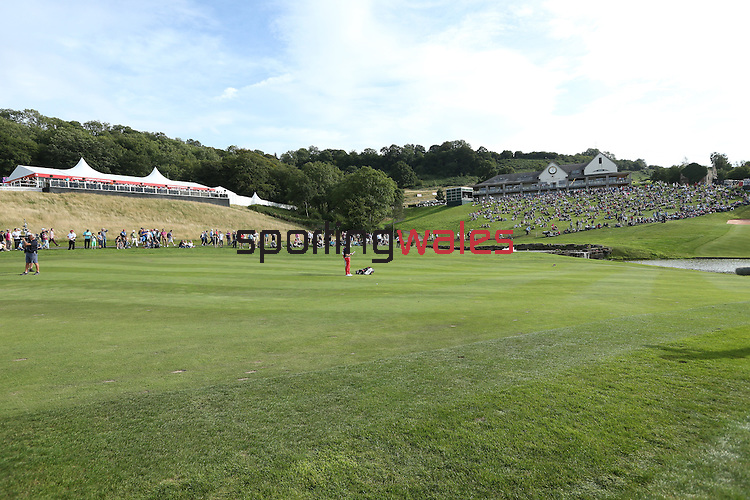 ISPS Handa Wales Open 2013<br /> Celtic Manor Resort<br /> General View of the 18th fairway, Twenty Ten clubhouse and hospitality pavilion.<br /> 01.09.13<br /> <br /> &copy;Steve Pope-Sportingwales