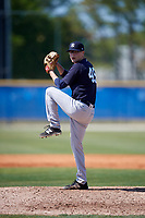 New York Yankees pitcher Janson Junk (45) during a Minor League Spring Training game against the Toronto Blue Jays on March 18, 2018 at Englebert Complex in Dunedin, Florida.  (Mike Janes/Four Seam Images)