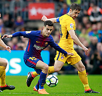 FC Barcelona's Philippe Coutinho (l) and Atletico de Madrid's Gabi Fernandez during La Liga match. March 4,2018. (ALTERPHOTOS/Acero) /NortePhoto.com NORTEPHOTOMEXICO