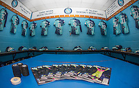 The matchday programme on display in the changing room during the Sky Bet League 2 match between Wycombe Wanderers and Yeovil Town at Adams Park, High Wycombe, England on 14 January 2017. Photo by Andy Rowland / PRiME Media Images.
