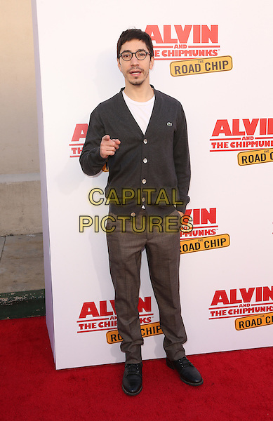 Los Angeles, CA - December 12 Justin Long Attending Premiere Of 20th Century Fox's &quot;Alvin And The Chipmunks: The Road Chip&quot; At The Zanuck Theater at 20th Century Fox Lot On December 12, 2015. <br /> CAP/MPI/FS<br /> &copy;FS/MPI/Capital Pictures